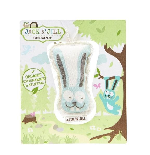 Saculet din bumbac organic pentru pastrarea dintilor de lapte, Bunny - Jack n' Jill