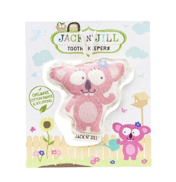 Saculet din bumbac organic pentru pastrarea dintilor de lapte, Koala - Jack n' Jill