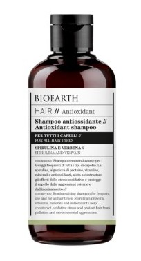 Sampon bio antioxidant cu spirulina si verbina, 250ml - Bioearth Hair Antioxidant