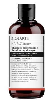 Sampon bio fortifiant cu iedera si eucalipt pentru par fragil, 250ml - Bioearth Hair Energy