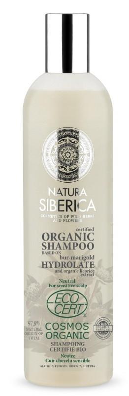 Sampon bio neutru pentru scalp sensibil, cu hidrolat de sulfina, 400 ml - Natura Siberica