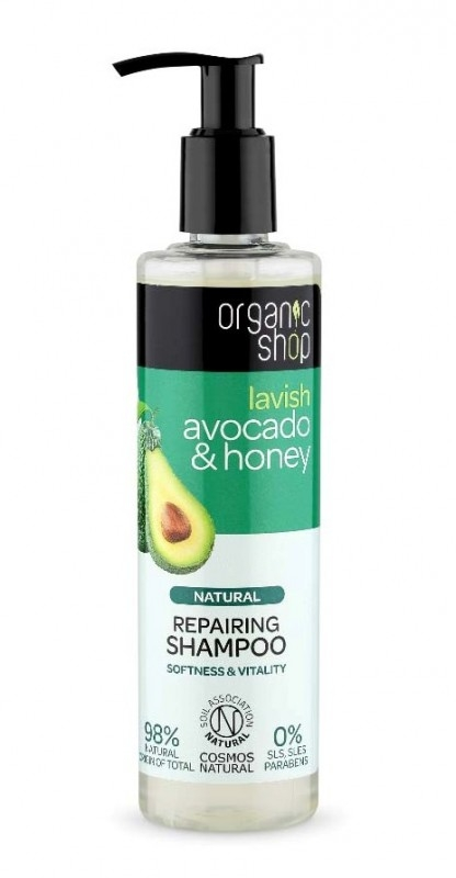 Sampon bio reparator Avocado & Miere, 280 ml - Organic Shop