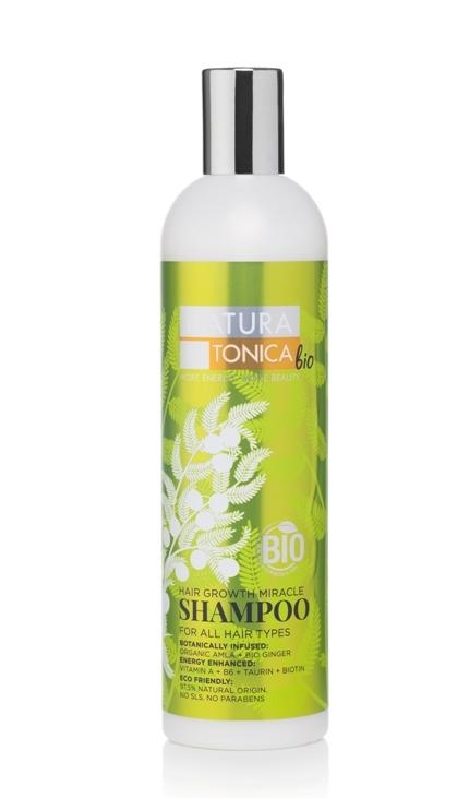 Sampon pentru stimularea cresterii parului Hair Growth Miracle, 400ml - Natura Estonica