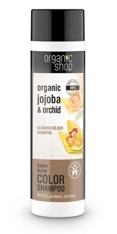 Sampon protectia culorii cu orhidee si jojoba Golden Orchid, 280 ml - Organic Shop