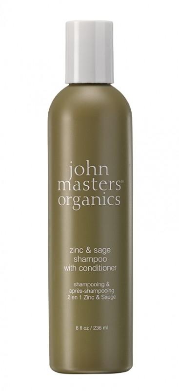 Sampon si balsam 2in1 Zinc & Salvie, 236ml - John Masters Organics