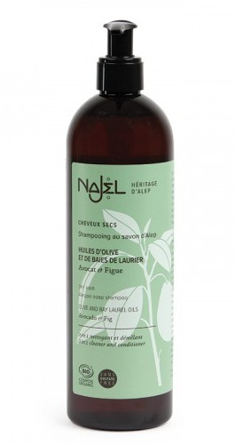 Sampon si balsam 2in1 cu sapun de Alep, pentru parul uscat si degradat, 500 ml - NAJEL