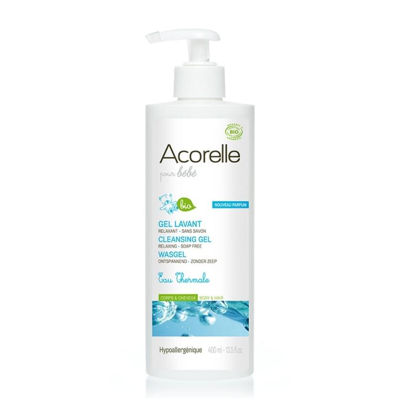 Sampon si gel de dus bebe cu apa termala, 400 ml - Acorelle