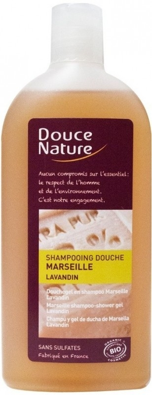 Sampon si gel de dus cu sapun de Marsilia si lavanda, 300 ml - Douce Nature
