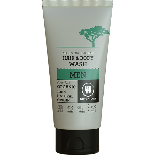 Sampon si gel dus organic pentru barbati, cu aloe vera si baobab - URTEKRAM