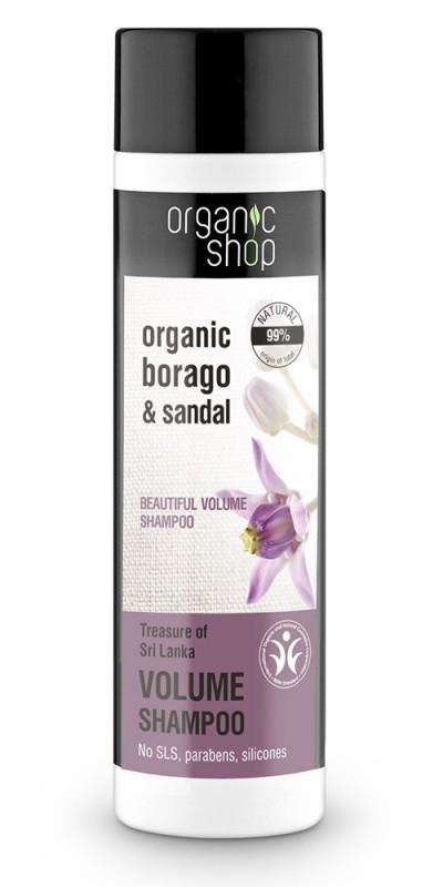 Sampon pentru volum cu santal Treasure Of Sri Lanka, 280 ml - Organic Shop