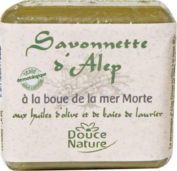 Sapun de Alep cu namol de la Marea Moarta, 100 g - Douce Nature