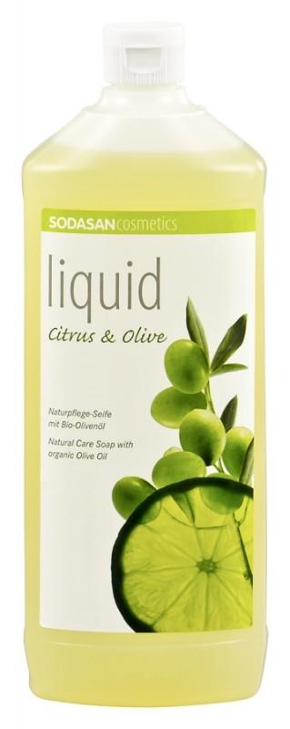 Sapun lichid-gel de dus Citrice si ulei de masline, 1L - Sodasan