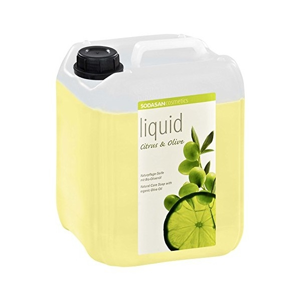 Sapun lichid-gel de dus Citrice si ulei de masline, 5 L - Sodasan