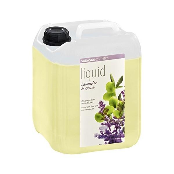 Sapun lichid-gel de dus Lavanda si ulei de masline, 5 L - Sodasan