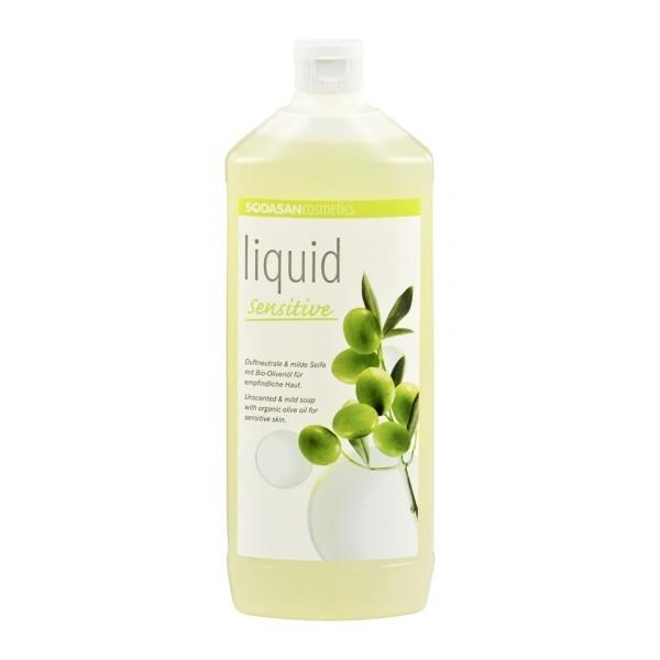 Sapun lichid-gel de dus Sensitive fara parfum, 1L - Sodasan