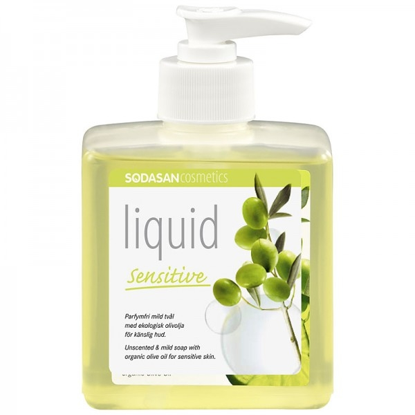 Sapun lichid-gel de dus Sensitive fara parfum, 300 ml - Sodasan