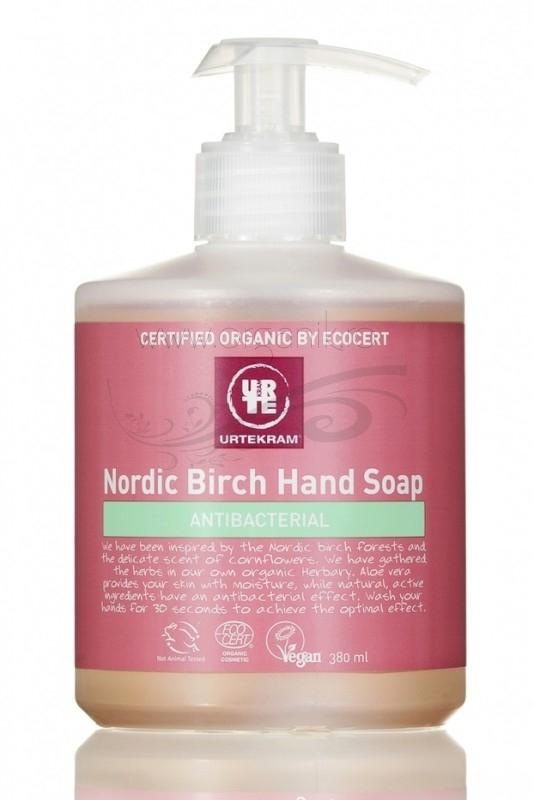 Sapun lichid bio antibacterian cu mesteacan Nordic Birch, 380 ml - URTEKRAM