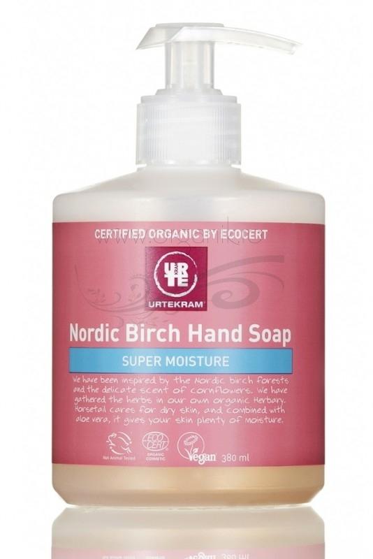 Sapun lichid bio nutritiv cu mesteacan Nordic Birch, 380 ml - URTEKRAM