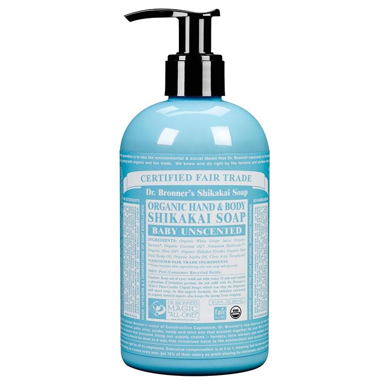 Sapun lichid cu pudra shikakai Fara Parfum, 355 ml - DR. BRONNER