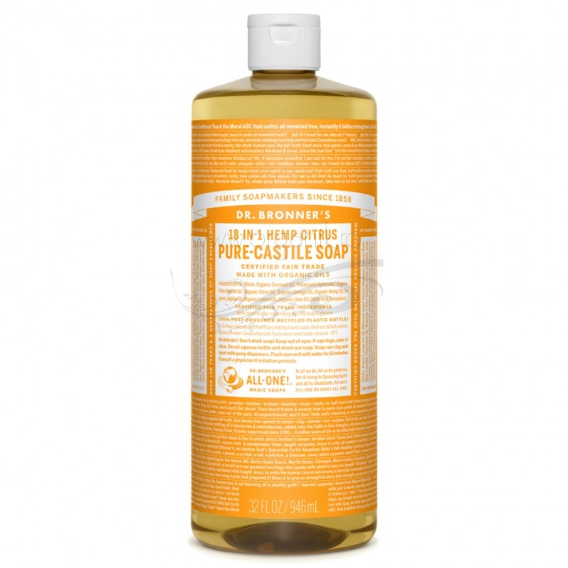 Sapun magic 18-in-1 Citrice, 946 ml - DR. BRONNER
