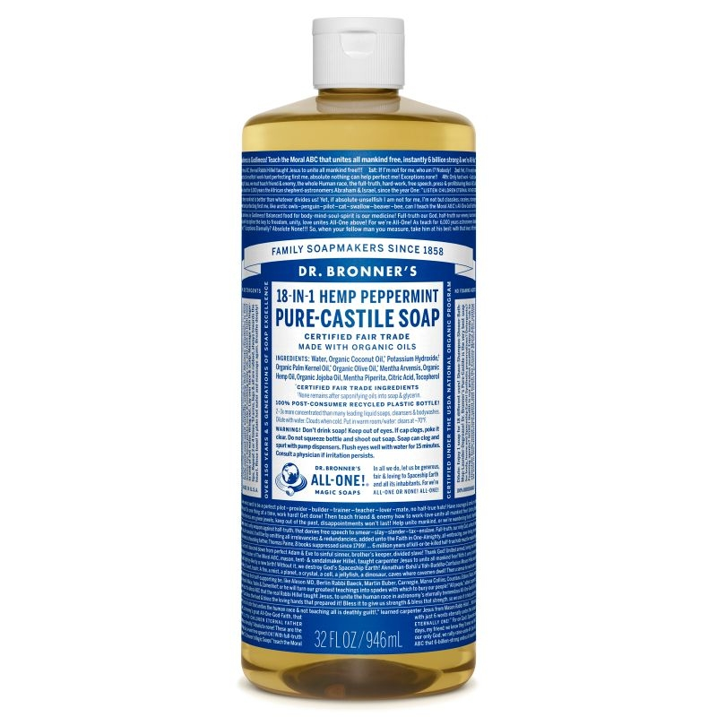 Sapun magic 18-in-1 Menta, 946 ml - DR. BRONNER