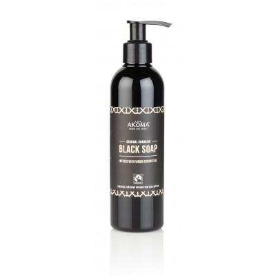 Sapun negru African lichid din Ghana, 250 ml - Akoma Skincare