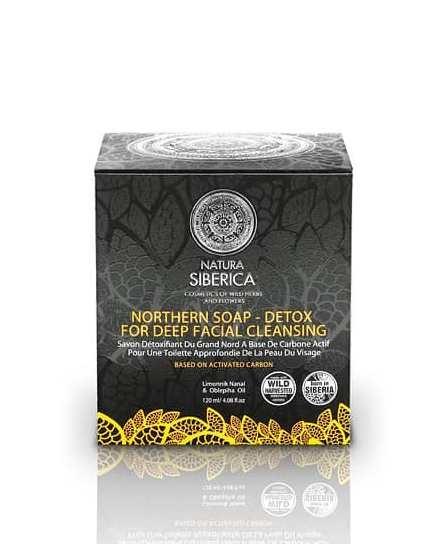 Sapun negru detoxifiant cu carbon activ pentru curatarea porilor in profunzime, 120 ml - Natura Siberica, Ingrijire fata, ochi