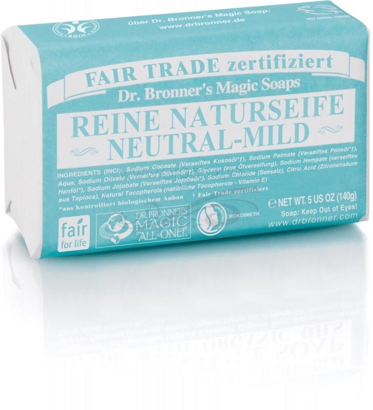 Sapun organic de Castilia, FARA PARFUM 140g - DR. BRONNER