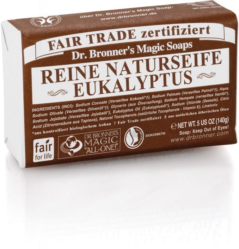 Sapun organic de Castilia, aroma Eucalipt 140g - DR. BRONNER