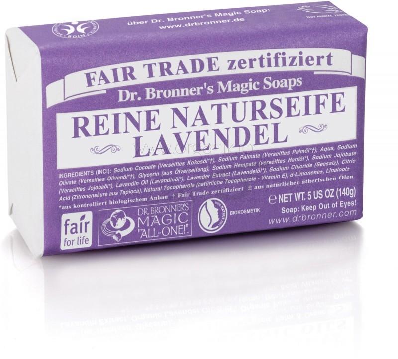Sapun organic de Castilia, aroma Lavanda 140g - DR. BRONNER