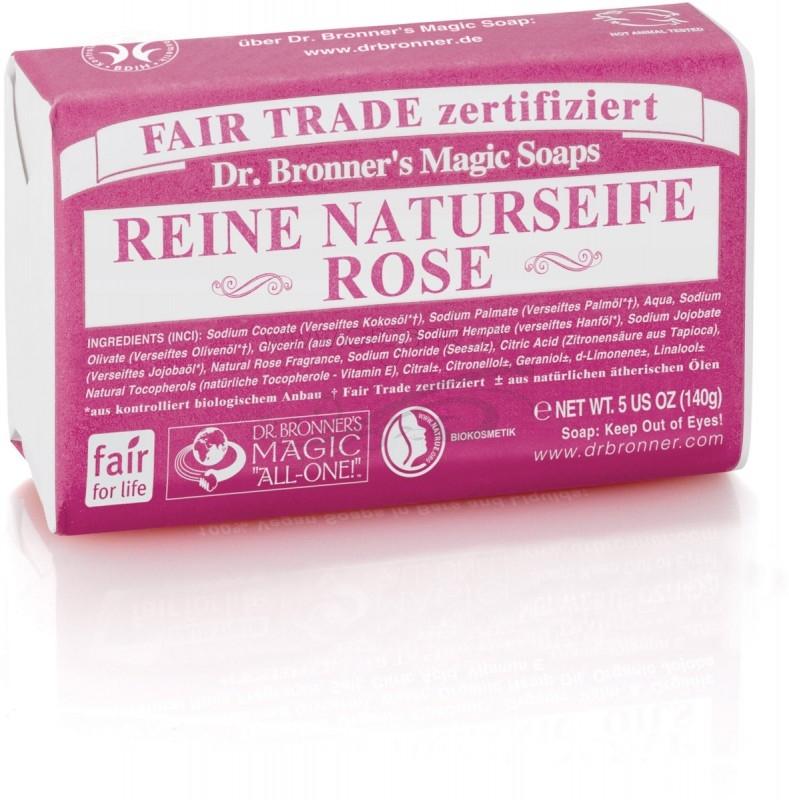 Sapun organic de Castilia, aroma Trandafir 140g - DR. BRONNER