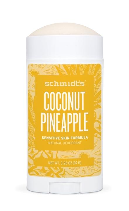 Deodorant stick cu magneziu pentru piele sensibila, Coconut Pineapple - Schmidts's Deodorant