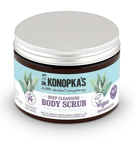 Scrub de corp pentru curatare in profunzime, 500 ml - Dr. Konopka