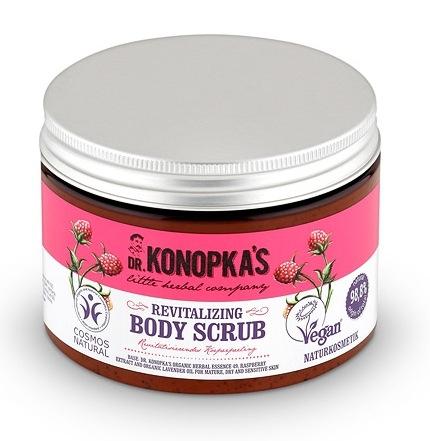 Scrub de corp revitalizant cu zmeura si lavanda, 500 ml - Dr. Konopka