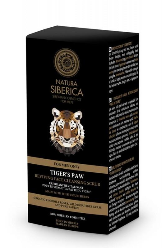 Scrub exfoliant pentru ten barbati, Tiger's Paw - Natura Siberica