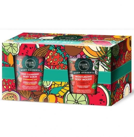 Set Cadou Body Desserts (scrub, mousse de corp cu capsuni) - Organic Shop