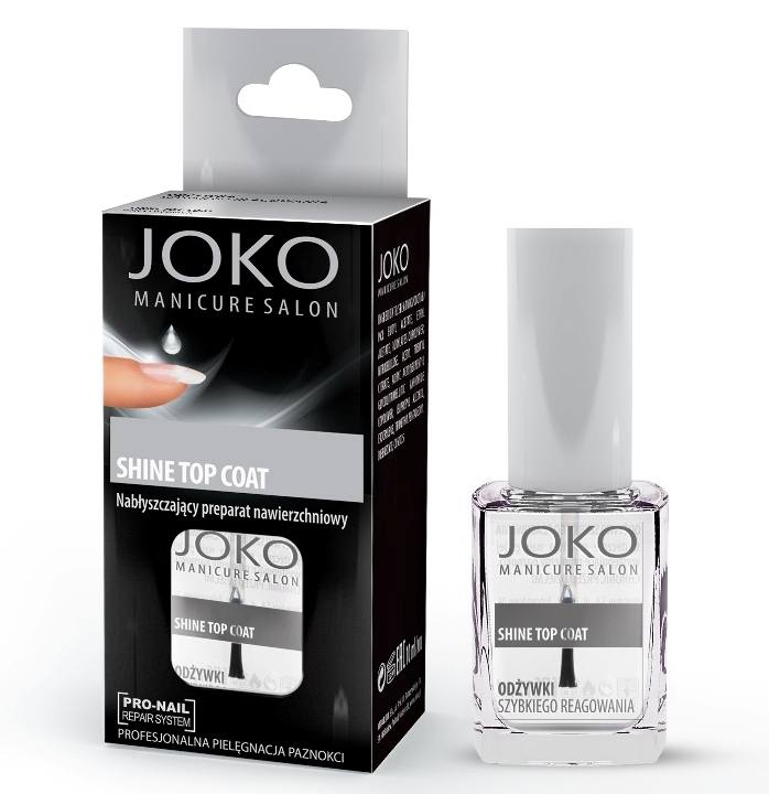Top coat lucios, cu aspect de gel - Joko