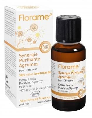 Sinergie uleiuri esentiale pentru purificarea aerului Citrice BIO, 30ml - Florame