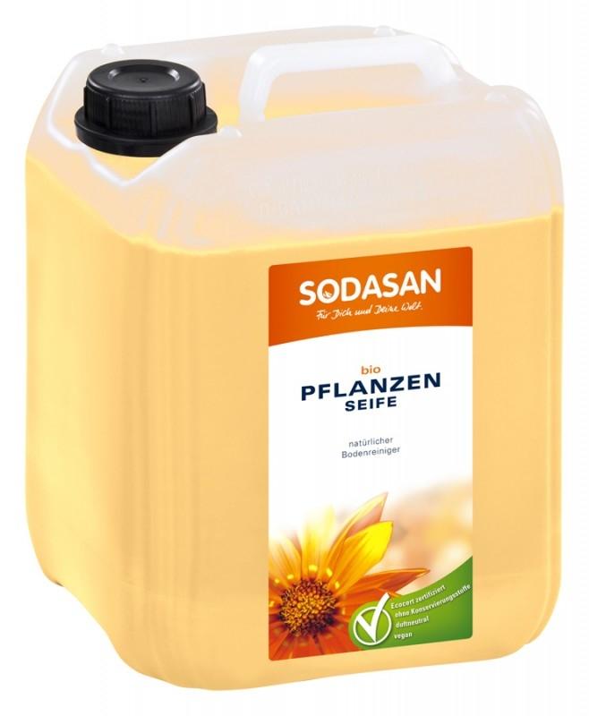 Solutie bio pentru podele, fara parfum,  5L - Sodasan