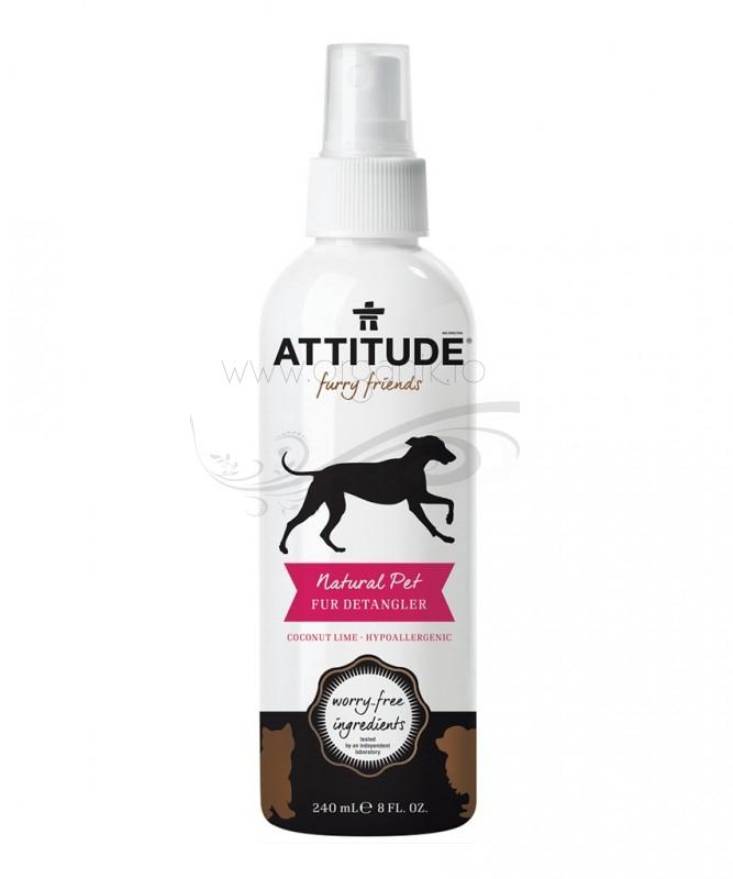 Solutie conditionatoare leave-in pentru descalcirea blanii, animale de companie - ATTITUDE
