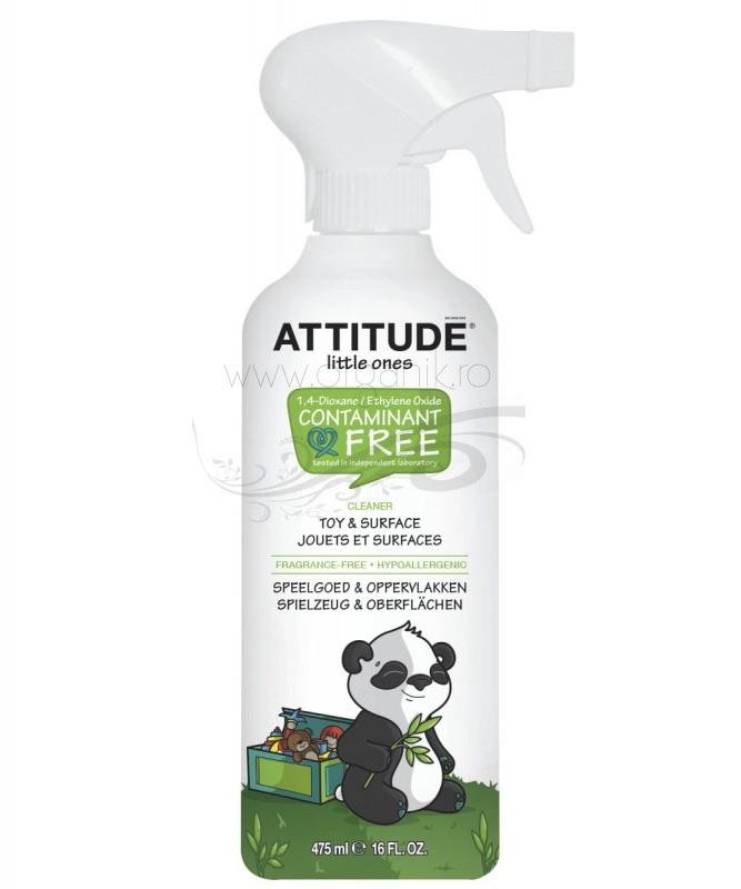 Solutie ecologica pentru curatat suprafete si jucarii, 475 ml - ATTITUDE