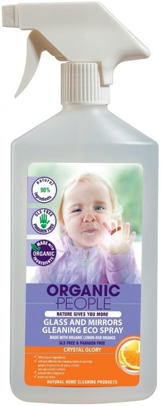 Solutie ecologica pentru geamuri si oglinzi, 500 ml - Organic People