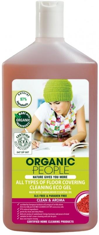 Solutie ecologica pentru toate tipurile de podele cu santal, 500 ml - Organic People