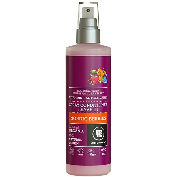 Spray balsam leave-in pentru descurcarea parului, cu fructe de padure - URTEKRAM
