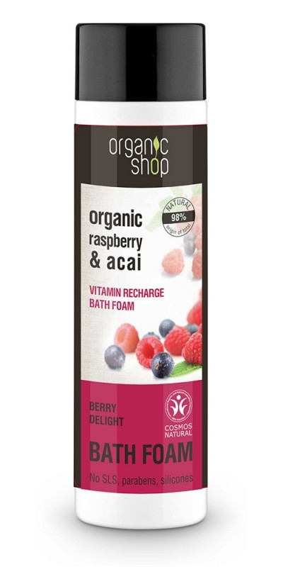 Spumant de baie cu zmeura si acai Berry Delight, 500 ml - Organic Shop