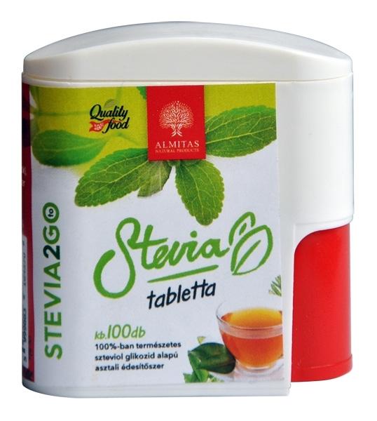 Stevia indulcitor natural, 100 comprimate - Almitas