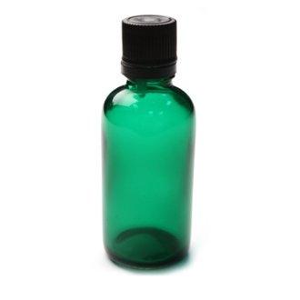 Sticla pentru uleiuri PET verde, 50 ml