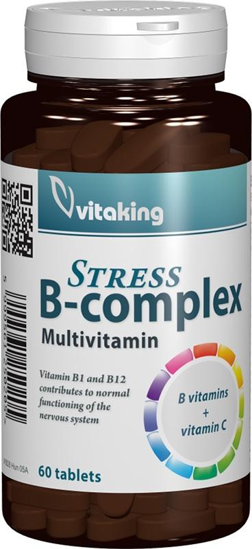 Stress B-complex Multivitamin, 60 comprimate - Vitaking