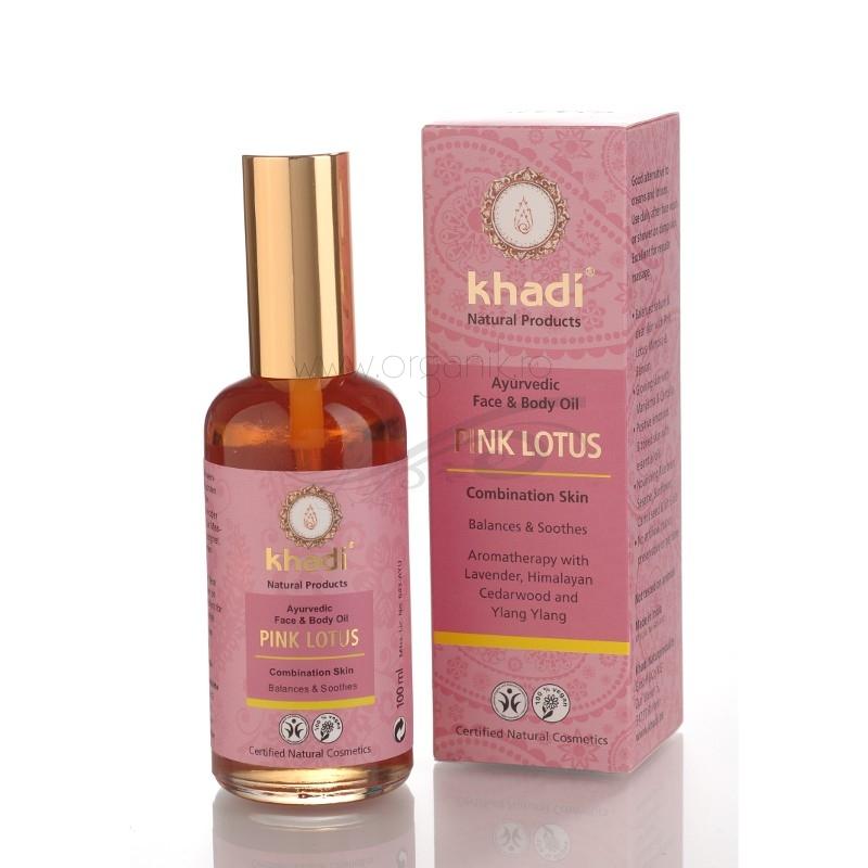 Ulei cu lotus roz, piele mixta si impura (ten si corp), 100 ml - Khadi