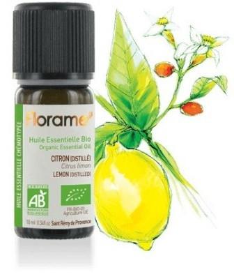 Ulei esential lamaie (Citrus limonum) BIO, distilat din fructe, 10ml - Florame